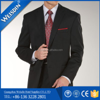 Anti-wrinkle Wholesale Wool/polyester Men Suit Neck Design