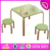 Wooden student table,wooden toy student desk and chair,lovely design study table and chairs set,wooden table and chairs W08G067