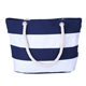 striped canvas bag cotton rope handle canvas beach tote bag wholesale