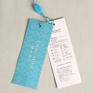 Special grain paper garment hang tag with Matt lamination Fashion Brand Women