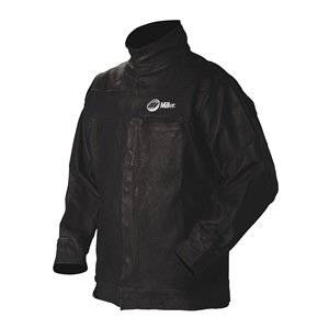 Leather Jacket, Black, Pigskin Leather, 3XL