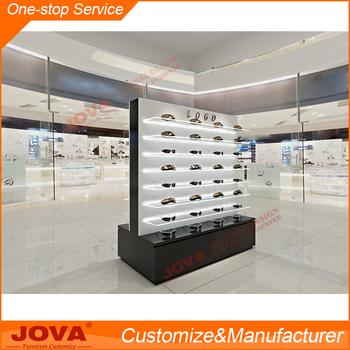 Modern Optical Equipment Wood And Gl Display Cabinets Tray For Eyewear