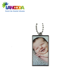 Customized Dye Sublimation Metal Dog Tag Pendant Necklace