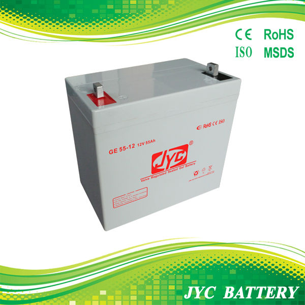 12v lead crystal battery 12V55Ah