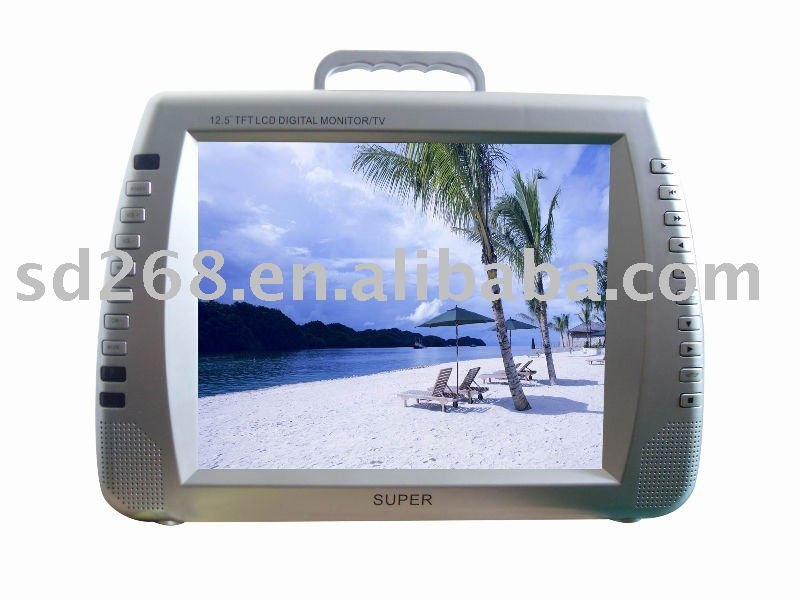 "Unique design 12.5"" Portable monitor with DVD"