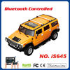 electric rc car toy iOS Android bluetooth big hummer 1 14 scale remote control car