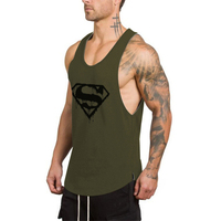 OEM Men's Summer Vests Custom Logo Stringers Mens Stinger Dri fit Gym Tank Top Made In china