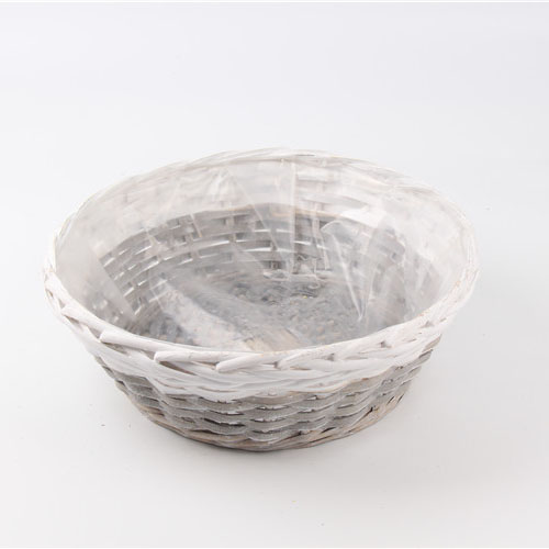 Wholesale Gift Flower Plant with plastic liner Willow Wicker Baskets