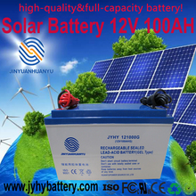 Gel battery,rechargeable Maintenance Free Deep Cycle 12V 100AH Storage Battery with Cable