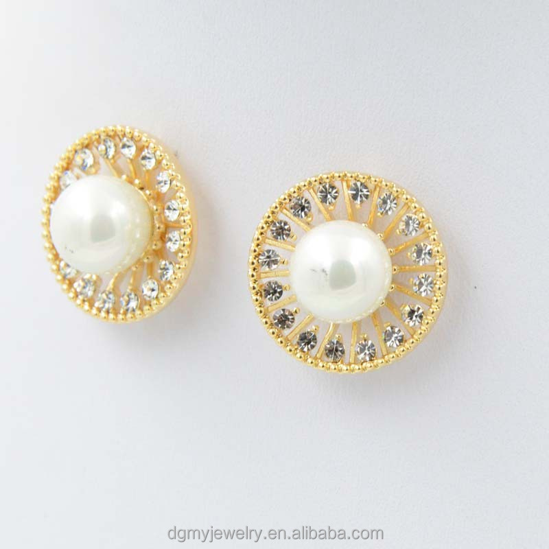 Fashion Gold Pearl Earring Tops Designs For Boys - Buy Gold Ear ...