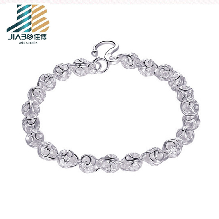 New product promotional stainless steel logo bracelet engraved bead chain bracelet