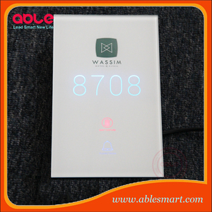 Hotel electronic door access do not disturb sign plate