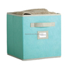 Eco-Friendly Non-woven foldable/fabric blue storage box and bins for home storage