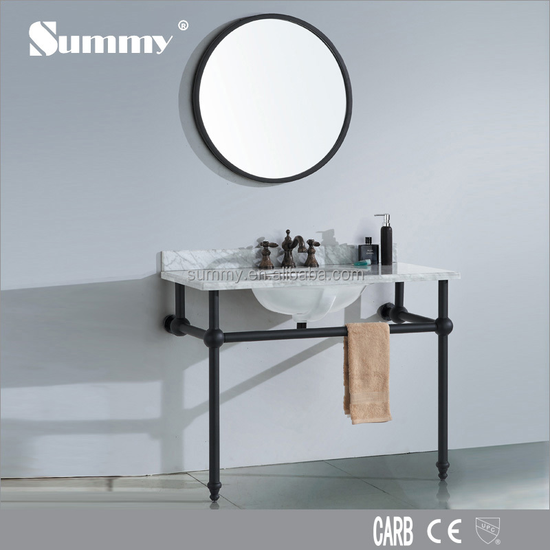 S 1505b,Metal Black Frame Bathroom Vanity,Bathroom Cabinet   Buy Bathroom  Vanity,Simple Vanity,Black Vanity Product On Alibaba.com