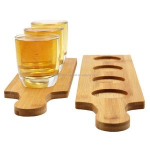 Wood Beer Tasting Tray345 Holes Wine Serving Flight Beer Cup Tray Beer Flight Paddle