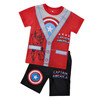 Guangzhou Kids Clothes Manufacture Children & Baby Casual Clothing Fashion Captain America Outdoor suit for boy