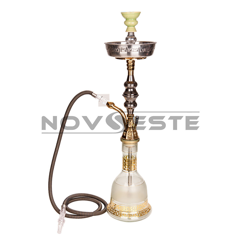 Best selling large size LH-03 transparent color glass disposable hookah hose