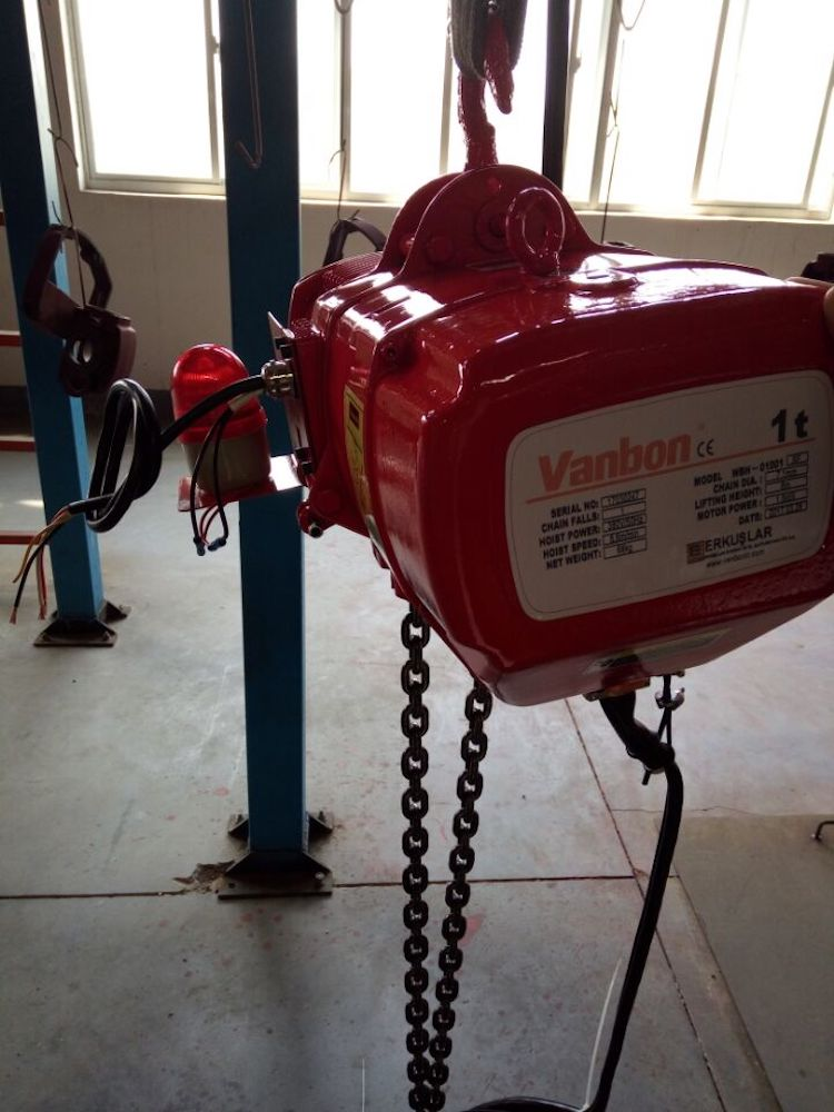 China hsy series 230v electric chain hoist price