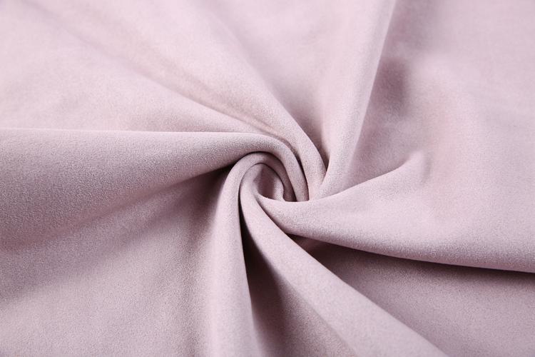 Roze windjack micro suède stof polyester textiel stof in de filippijnen
