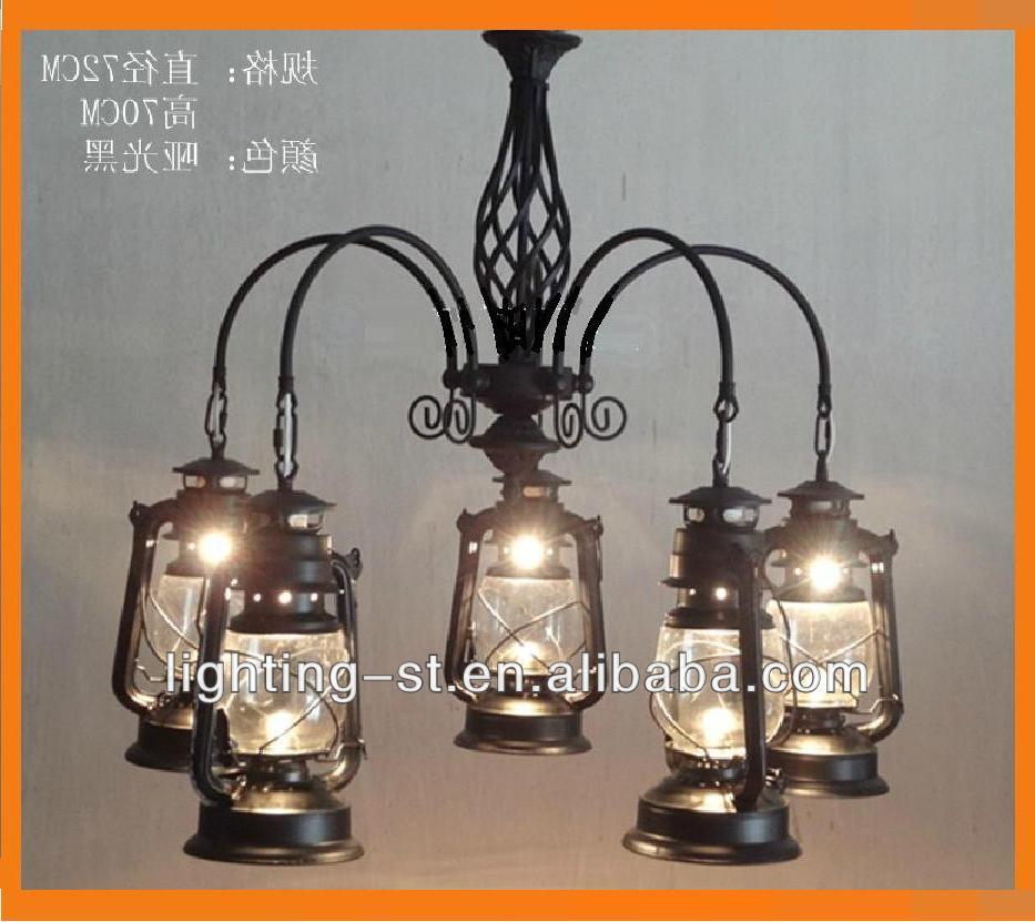 Vintage Kerosene Lantern Chandeliers Archaize Drop Light Lighting Fixture Fixtures Europe Type Restoring