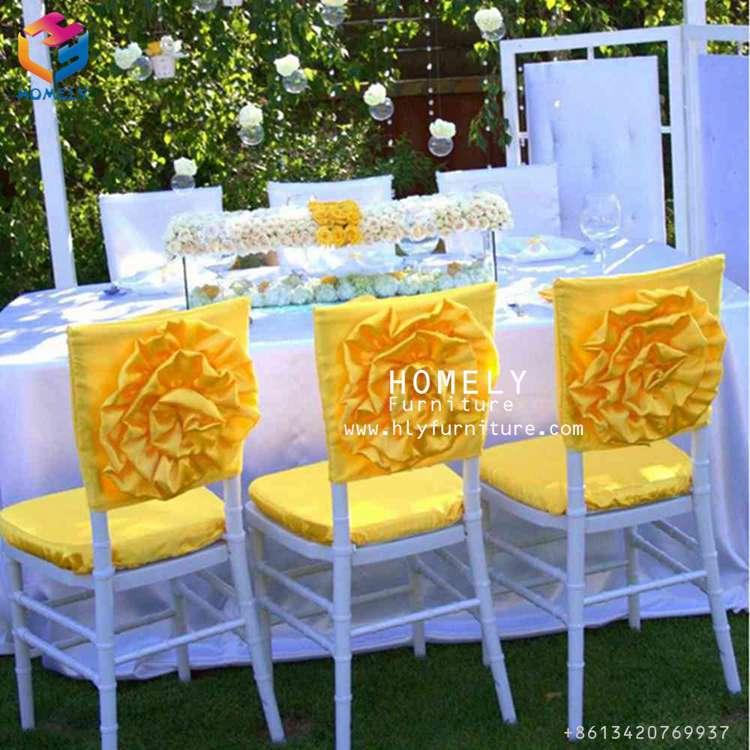 estilo simple romntico rizado barato cubierta de la silla del spandex plisada - Bodas Sencillas