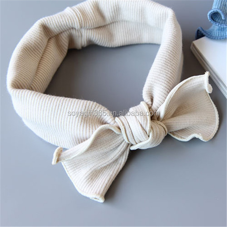 New Baby Cotton Top Knot Elastic Turban Headband Baby Girls Hair Band Ears Warmer Accessories