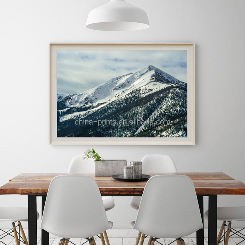 Natural Scenery Frame Canvas Print Snow Mountain Canvas Wall Art ...