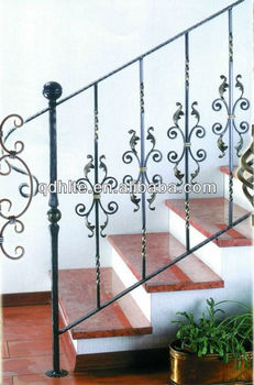 Decorative Wrought Iron Balusters For Interior Stairs