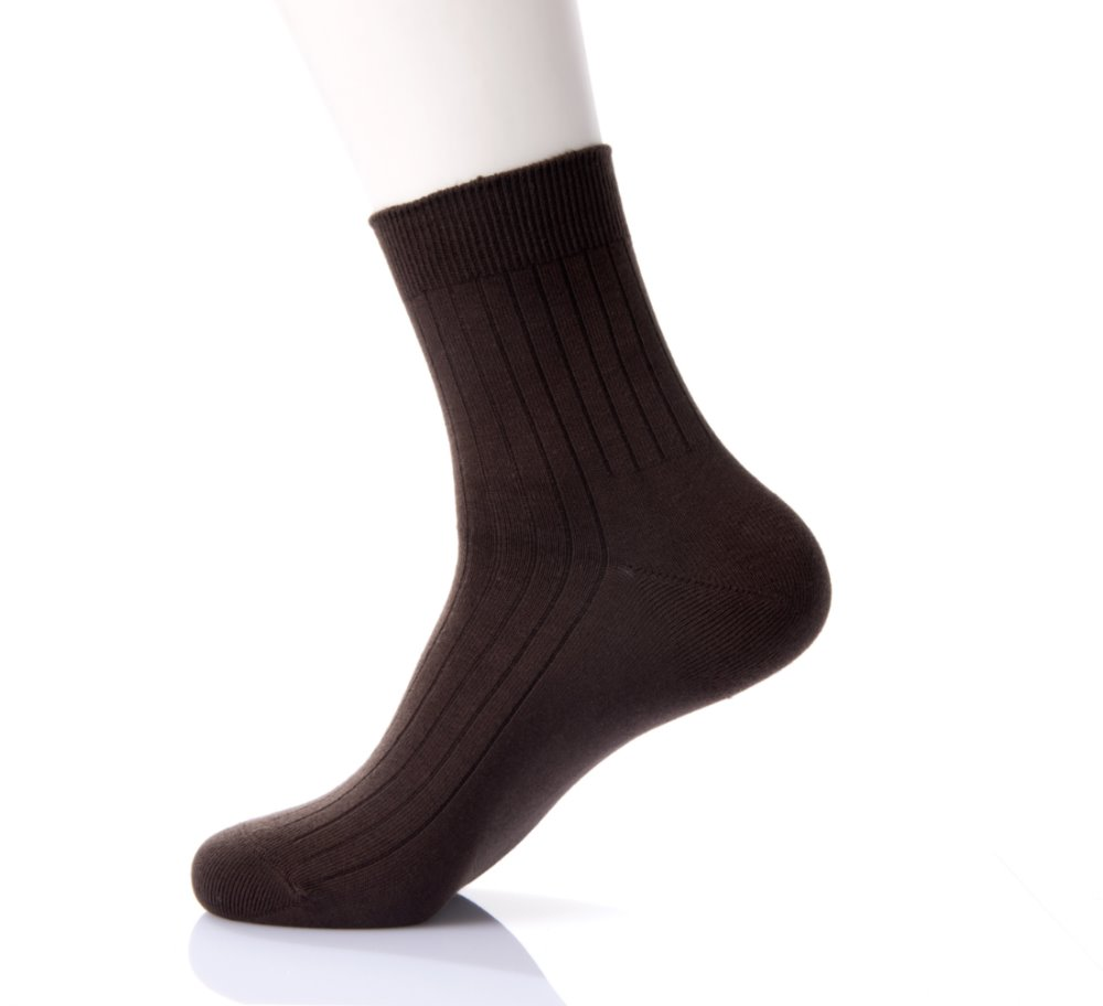 Factory direct wholesale men's socks durable sweat-absorbent plain color business striped socks