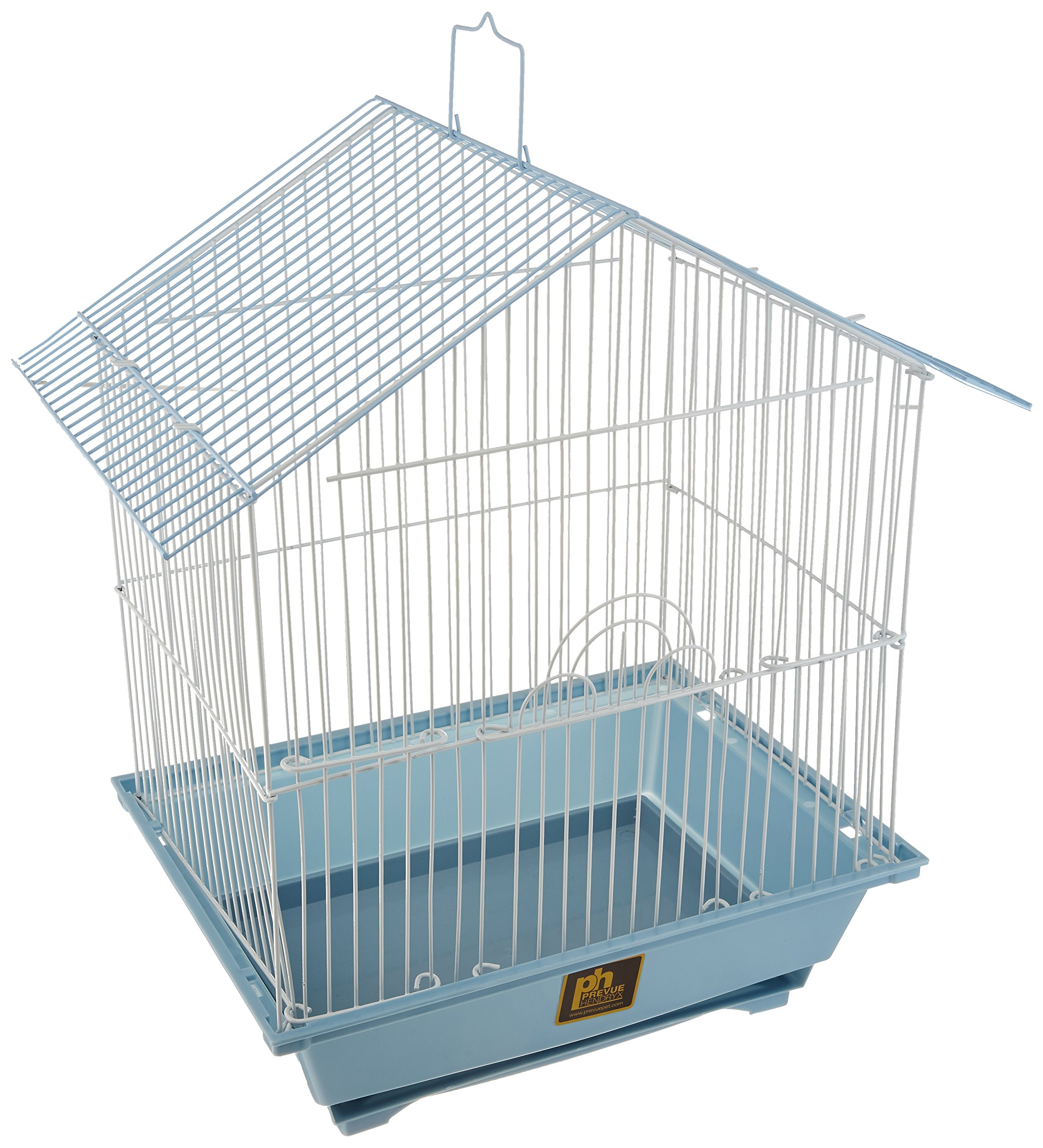 Prevue Hendryx House Style Economical Parakeet House with 2 Perches, 1 Swing and 2 Feeding Cups