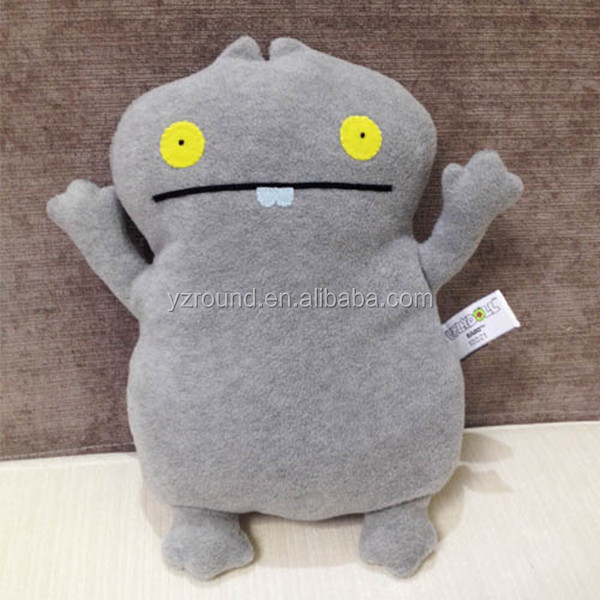 Grey let me go cute tiny uglydoll toy