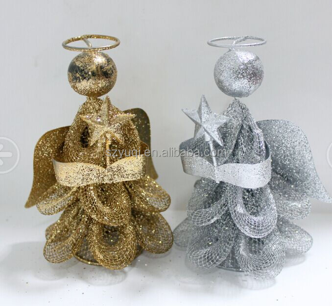 2017 decorative angel metal standing christmas angel for Xmas