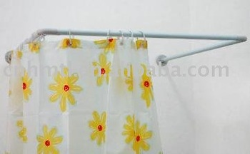 U Shaped Extension Shower Curtain Rod