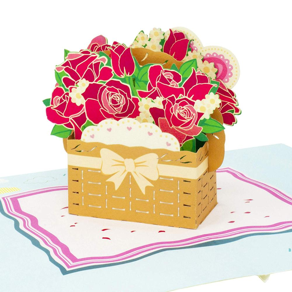 Meilun 2019 new arrival 3d pop up <strong>card</strong>, gift for mother's day