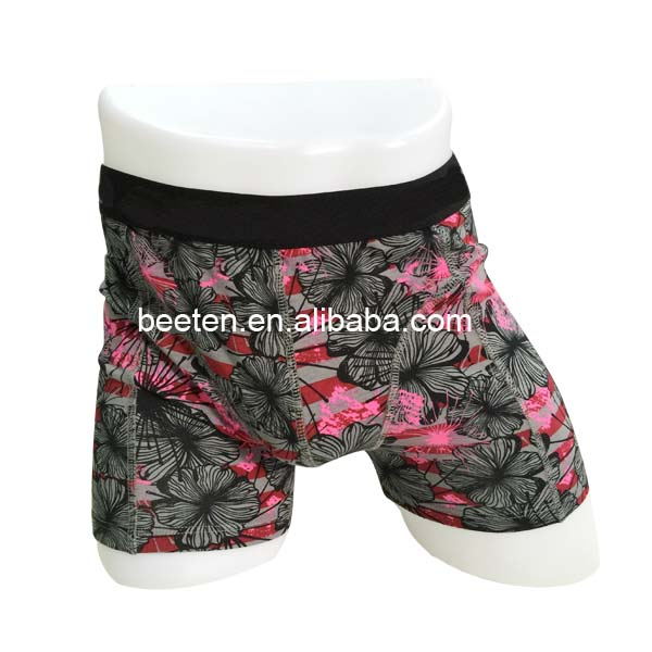 Mens boxer with beautiful flower full print