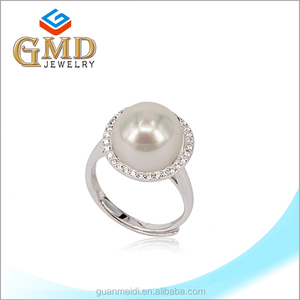 Fashionable Pearl Sterling Silver Jewelry Tat Ring