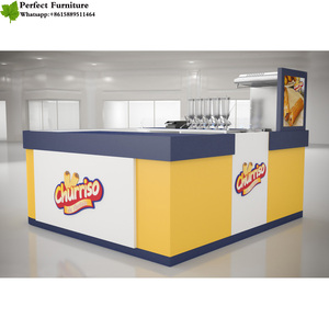 Touch Green Leafs food kiosk factory, food court design, franchise food with led lights