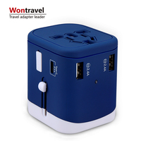 New product Innovative corporate gifts universal travel adapter Type-C and 3 USB adaptor multi smart USB charger