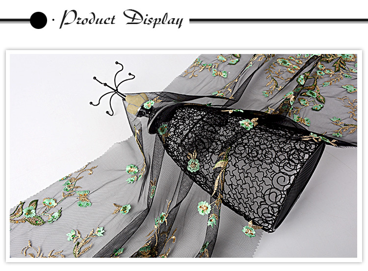 Newest beautiful floral design mesh lovely flat flower lace fabric embroidery