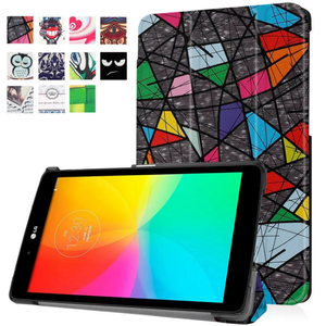 Customized drawing leather folio case for LG G Pad 3 8.0 V525