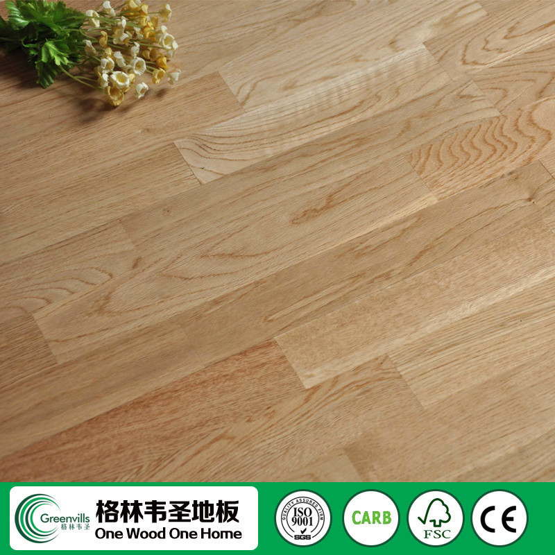 3 layers 3 strips plank multi core click oak flooring