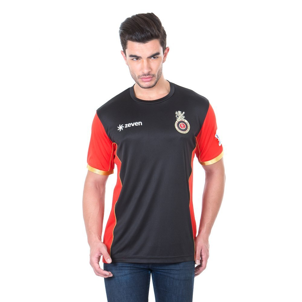 RCB Men's Royal Challengers Bangalore Solid Round Neck T-Shirt