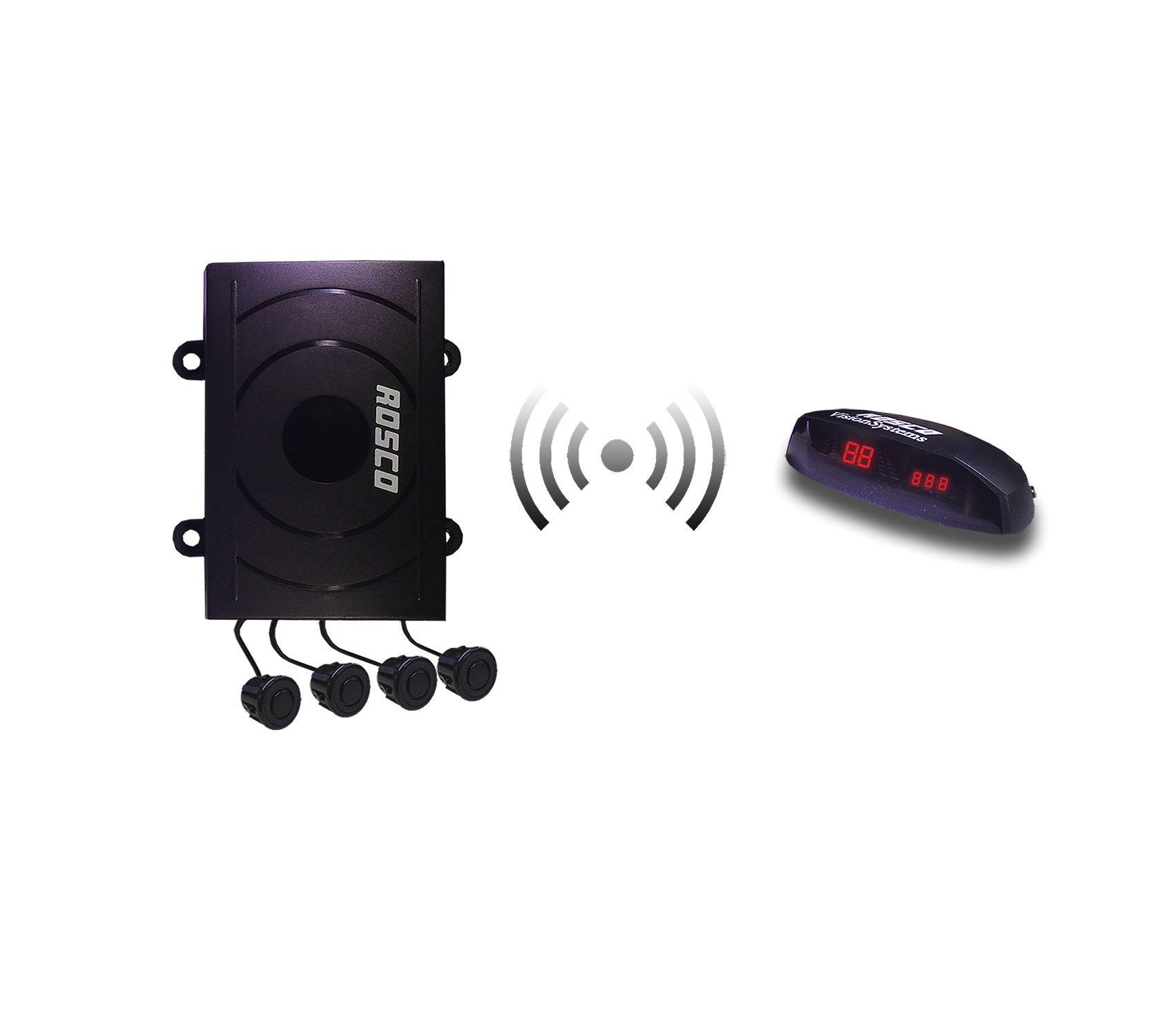 Automotive Four (4) Flush Mount Wireless Backup Sensor Kit for cars, suvs, 4x4s, mini-vans, pickups, and small trucks.