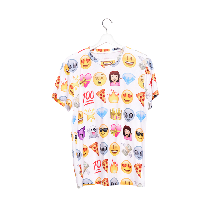 customized polyester promotional 3d digital print emoji print sublimation 3d t shirt
