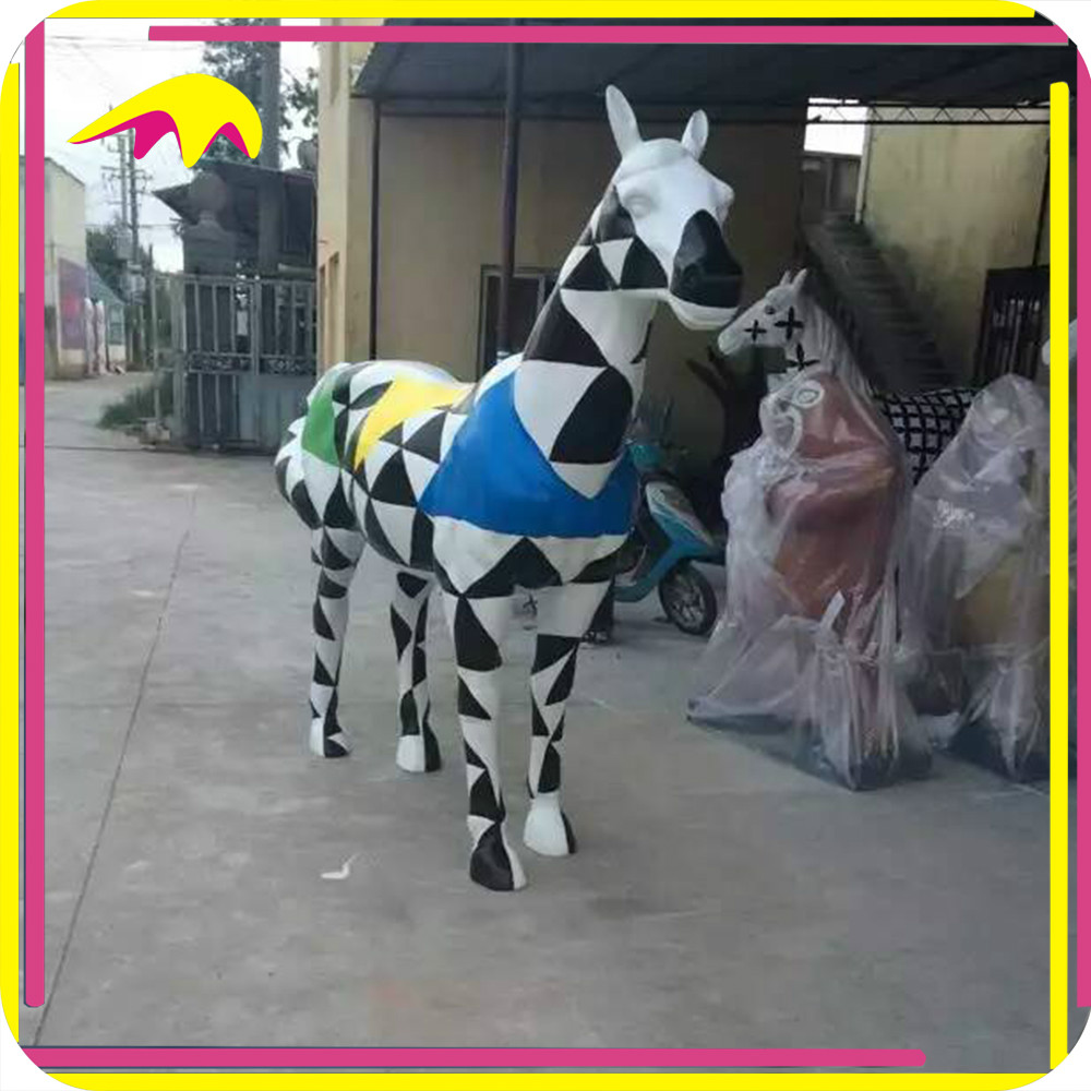 KANO4296 Zoo Decorative Artificial Fiberglass Animal Figure