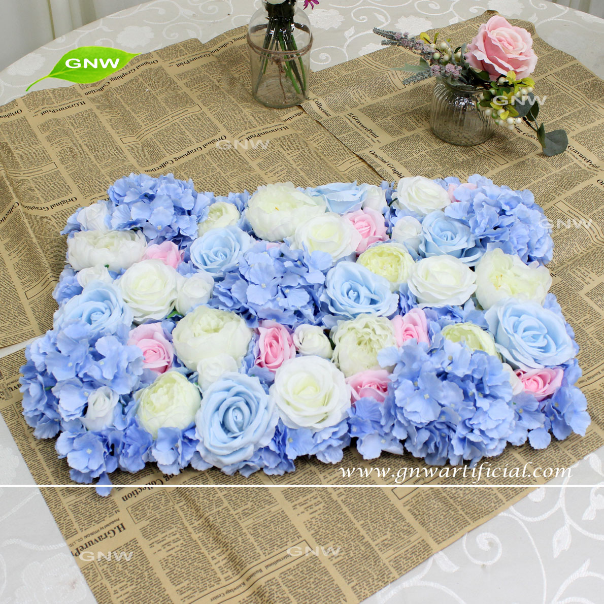 Gnw Flower Mat Backdrop Wedding Decoration