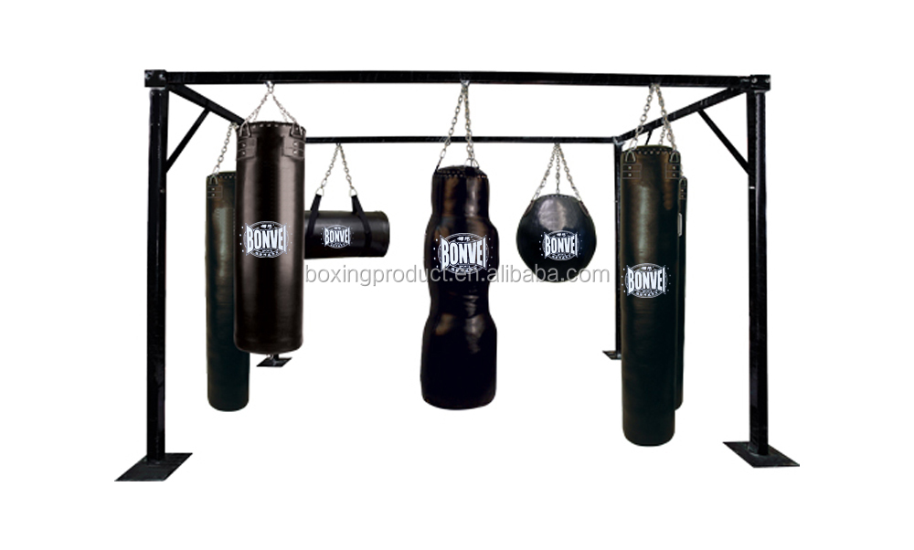 Multi Station Bag Rack Heavy Showing Wall Mount Punching Pro Stand Boxing Sd