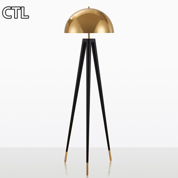 Nordic post-modern simple floor lamp paint corner lights electroplating decorative floor lamps