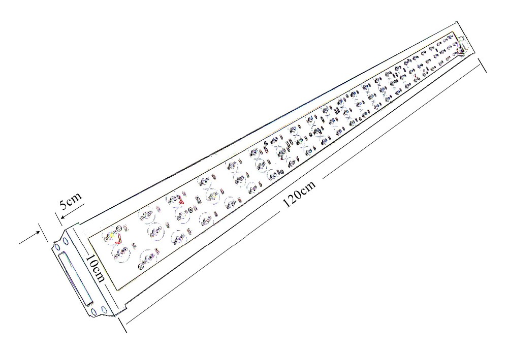 LuminiGrow Bar 200 High Intensity Bar Led Grow Light For Hydroponic Plants With Veg And Flower