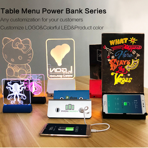 Newest restaurant power bank/menu power bank restaurant from China factory with very good price and best quality